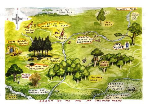 The classic Christopher Robin map