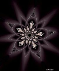 Amethyst flower star
