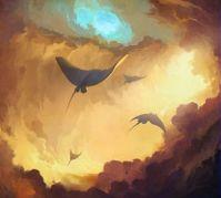 Sting Rays in Flight