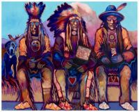 Blue Dog and the Old Chiefs ~ Farrell Cockrum (Blackfoot)