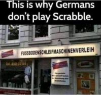 Germans and scrabble