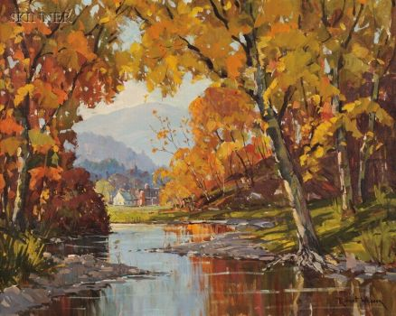 Autumn painting by Robert Shaw Wesson