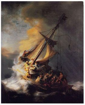 Storm on the Sea of Gallilee ~ Rembrandt
