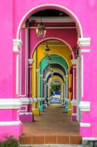 Colorful Archways in Penang, Malaysia