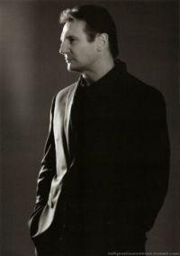 Liam Neeson in profile