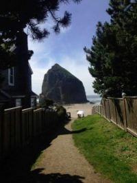 stairs to haystack rock