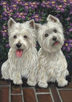 West Highland White Terriers Molly & Glennie Precious Pets Paintings