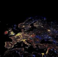 Lights over Europe from Space by ISS