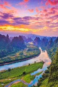 River Through The Mountains - Guilin, China...