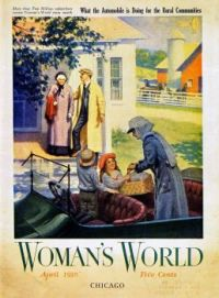 Charming 1916 Cover of Woman's World Magazine