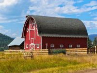 Red Barn and Fence....