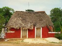 Thatched Mayan hut, Yucatan, by Mexicanwave