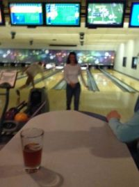 Audra at the Bowling Ally