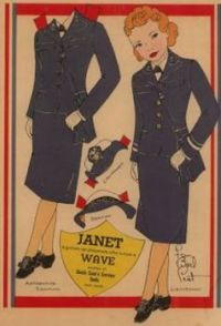 #1 Vintage Janet Paper Doll  Fern Bisel Peat, one of the leading paper doll artist back in the 1940's.
