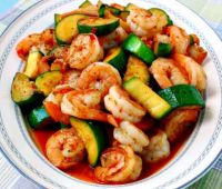 Spicy Shrimp and Zucchini Stir fry