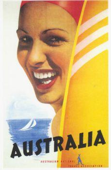 Vintage Travel Poster: Australia (large)