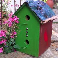 Tin Roof Bird House