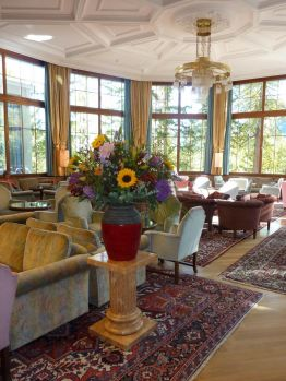 Lobby of Hotel Waldhaus,