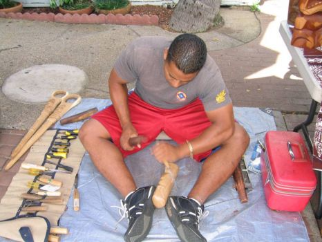 Wood Carver - Hawaii
