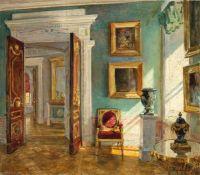 Stanislav Yulianovich Zhukovsky - Interior of the Picture Gallery, Pavlovsk