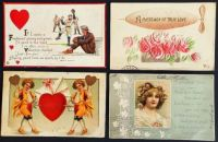 Antique Valentines Postcards 4 - Over 100 years old