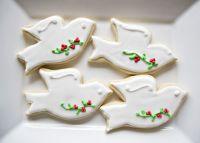 Christmas Dove Cookies for Chookies