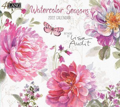 LANG 2022 Wall Calendar Watercolor Seasons