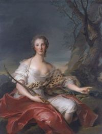 Jean-Marc Nattier Madame Bouret as Diana 1745