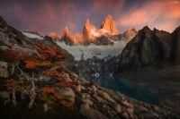 Laguna Sucia, the hidden laguna in Glaciers National Park, Patagonia, Argentina