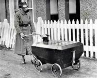 Wartime Stroller Equipped with Gas Protection; England, Hextable, 1938