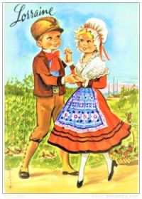 Themes Vintage illustrations/pictures - dancing couple from Lorraine