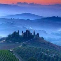 Twilight in Tuscany.