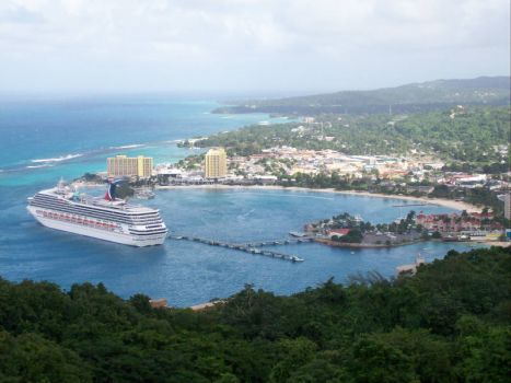 On the skyride in Jamaica