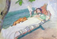 Carl Larsson (Swedish, 1853–1919), Woman Lying on a Bench