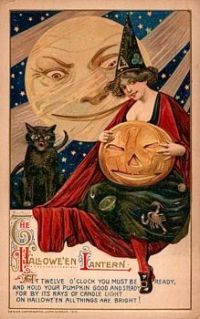 The Halloween Lantern, by artist Samuel L. Schmucker (1879-1921)