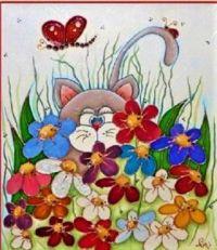 """Cat Art"" by Carole Langlois"