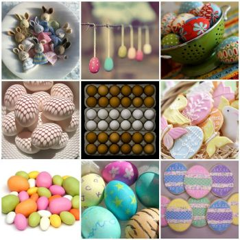Easter Egg mosaic by Hand Knitted Things on flickr