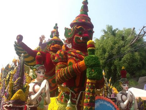 Float at flower parade