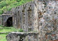Old mill ruin in Caribbean                                314-001