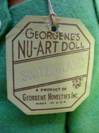 Georgenes Nu-Art Doll Georgene Novelties Switzerland Boy all original tag cloth