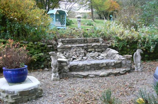 Building stone steps upto the gardens