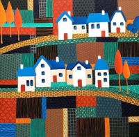Tiny Town on Patchwork Hill by Lisa France Judd