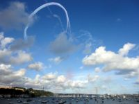 Red Arrows over Falmouth Harbour 13-08-14