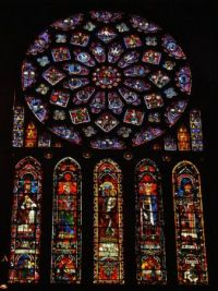 Stained glass window, Chartres Cathedral