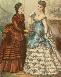 Victorian fashion, daywear, eveningwear