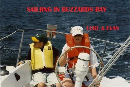 Evan and Luke sailing ericson 27 buzzards bay cape cod