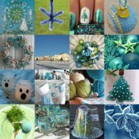 Blue and green Christmas