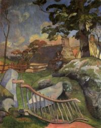 The Wooden Gate (The Pig Keeper), Paul Gauguin