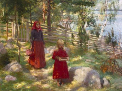 """Albert Edelfelt, """"Wild Strawberries"""", 1890"""