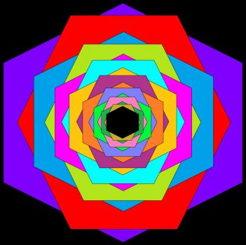 Overlapping Hexagons (Smaller)